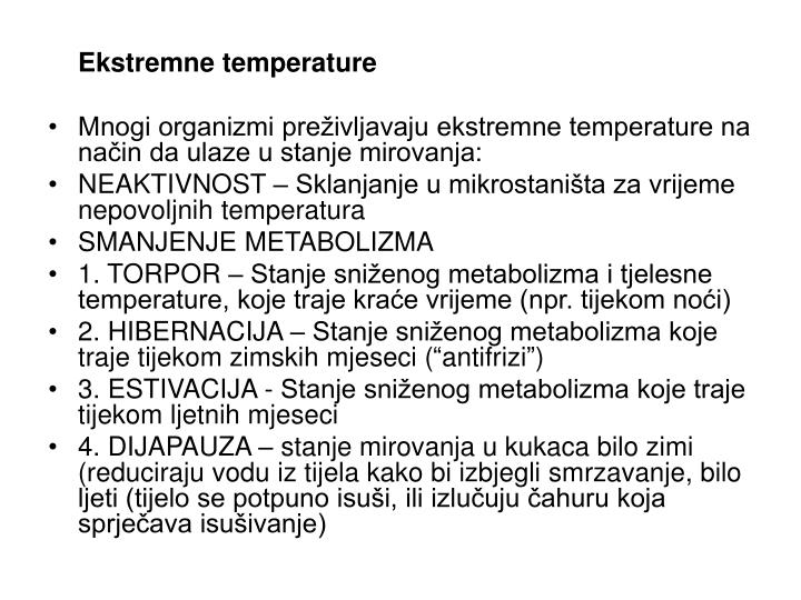 Ekstremne temperature