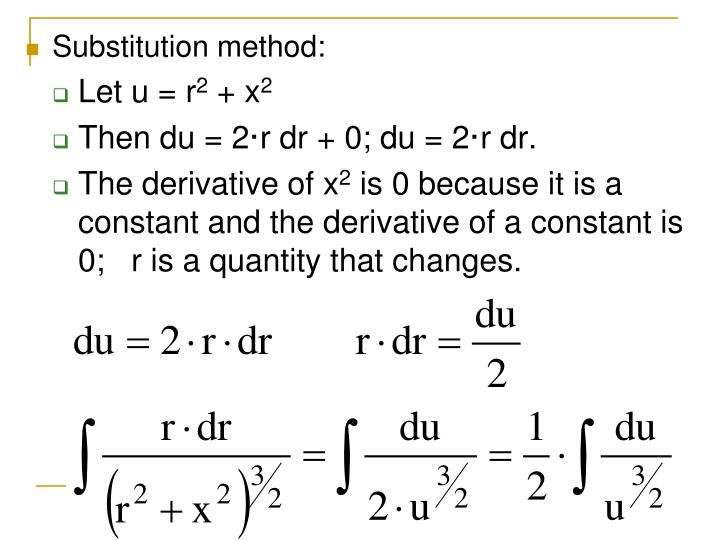 Substitution method: