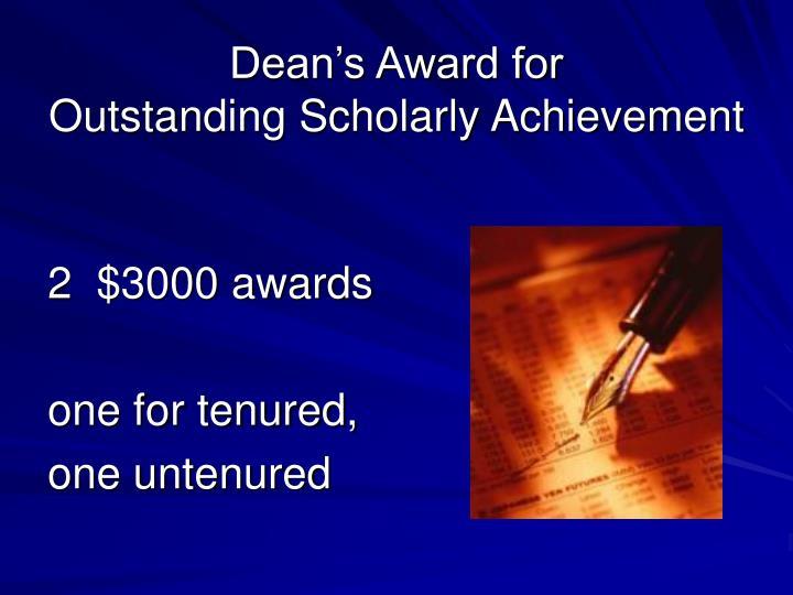 Dean's Award for