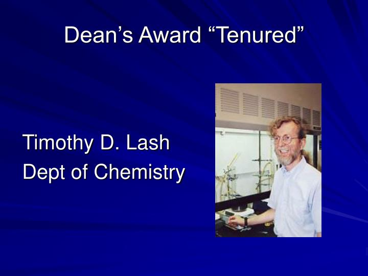"Dean's Award ""Tenured"""