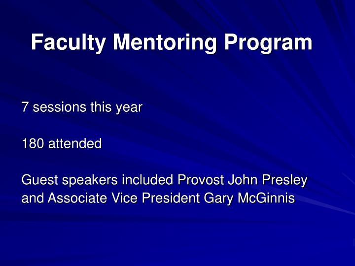 Faculty Mentoring Program