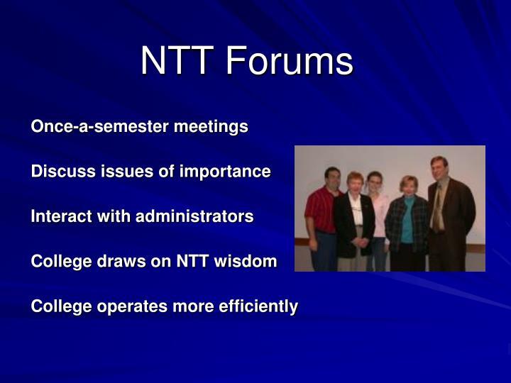 NTT Forums