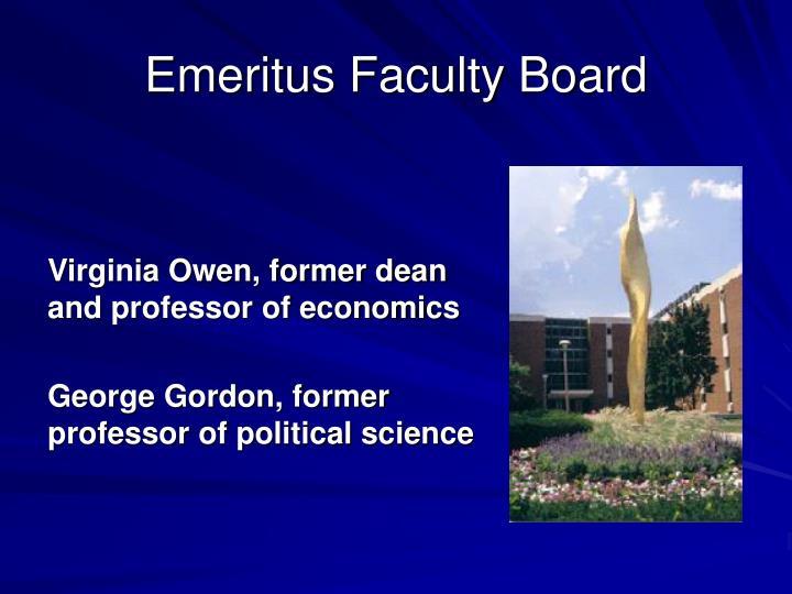 Emeritus Faculty Board