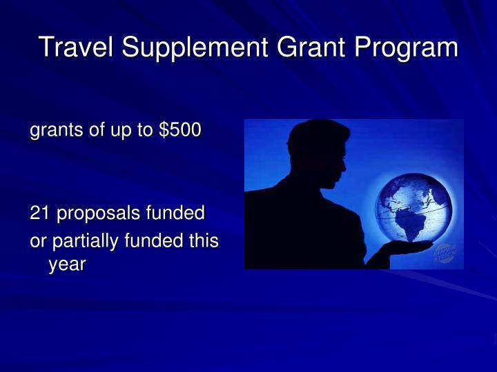 Travel Supplement Grant Program