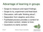 advantage of learning in groups
