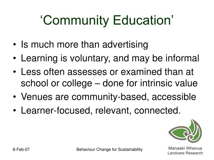 'Community Education'