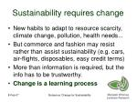 sustainability requires change