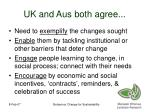 uk and aus both agree