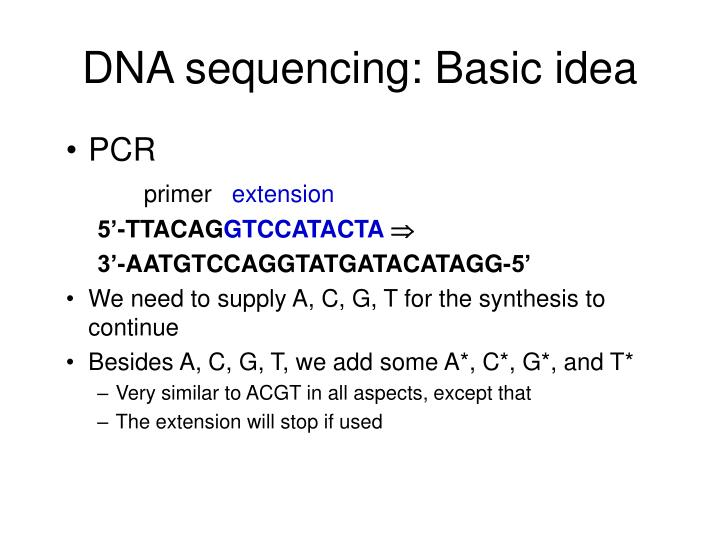 DNA sequencing: Basic idea