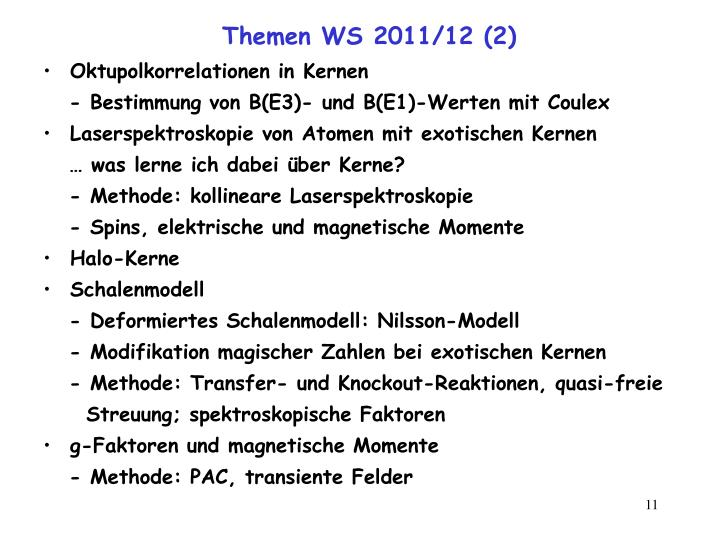 Themen WS 2011/12 (2)