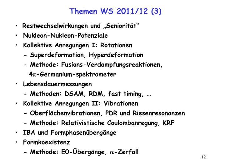 Themen WS 2011/12 (3)