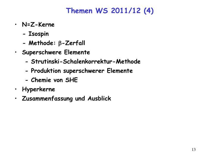 Themen WS 2011/12 (4)