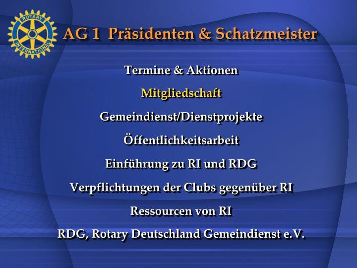 AG 1  Präsidenten & Schatzmeister
