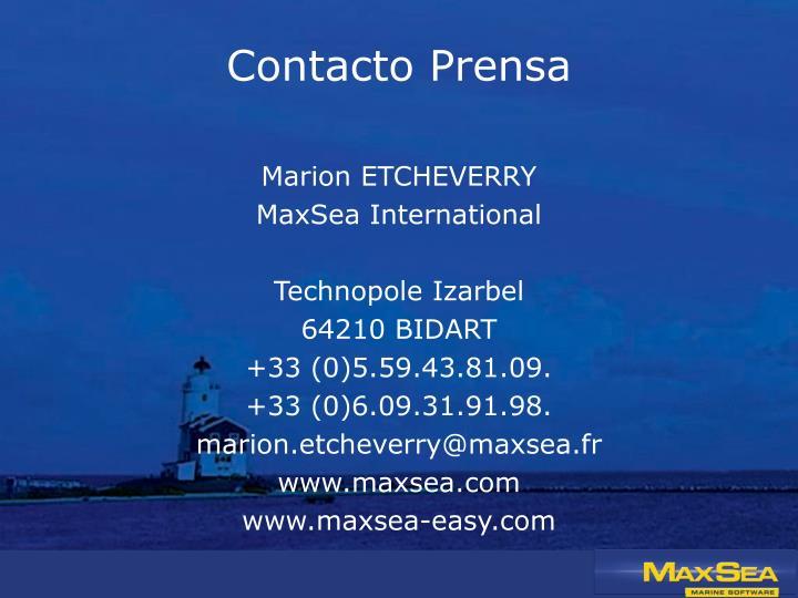 Contacto Prensa