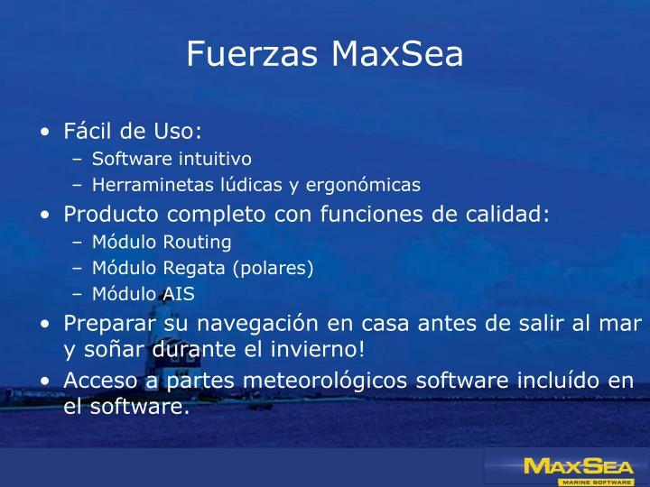 Fuerzas MaxSea