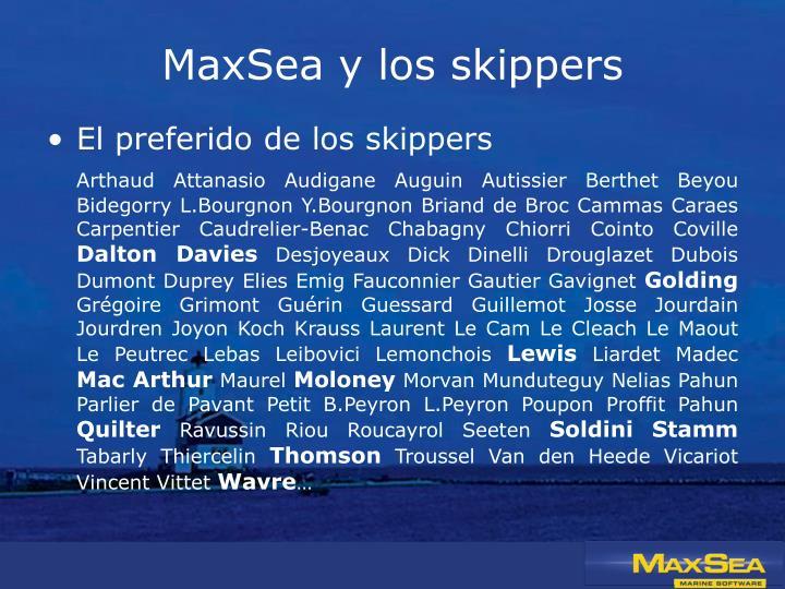 MaxSea y los skippers
