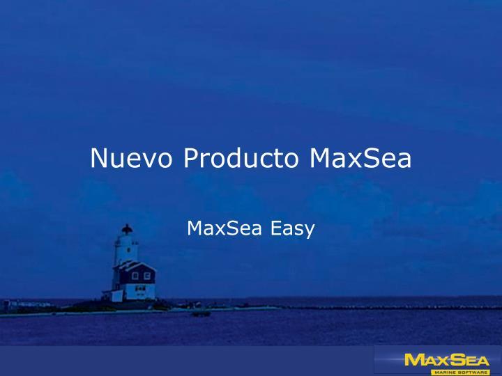 Nuevo Producto MaxSea