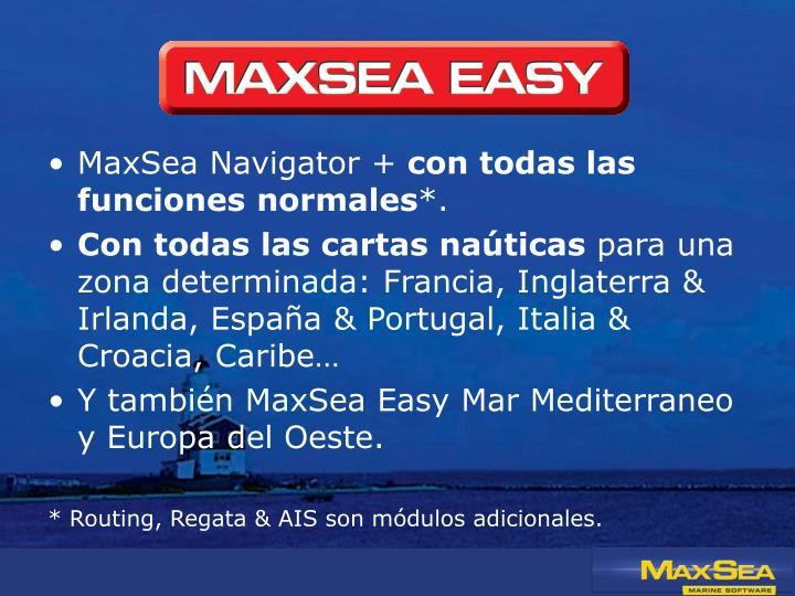 MaxSea Navigator +