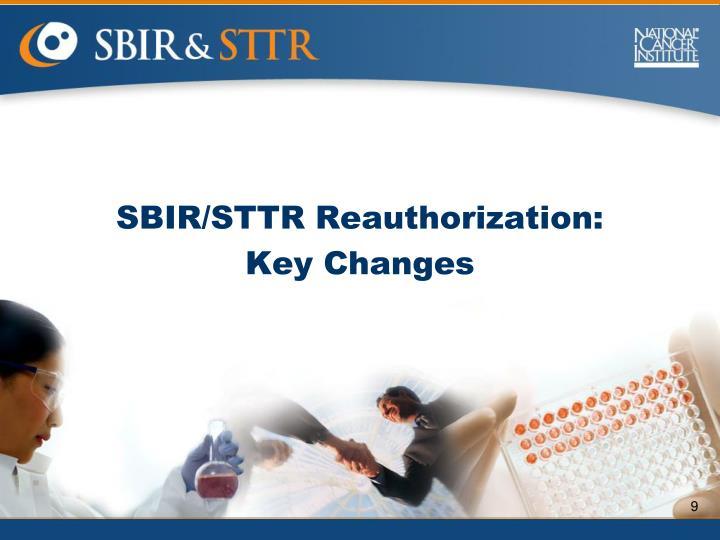 SBIR/STTR Reauthorization: