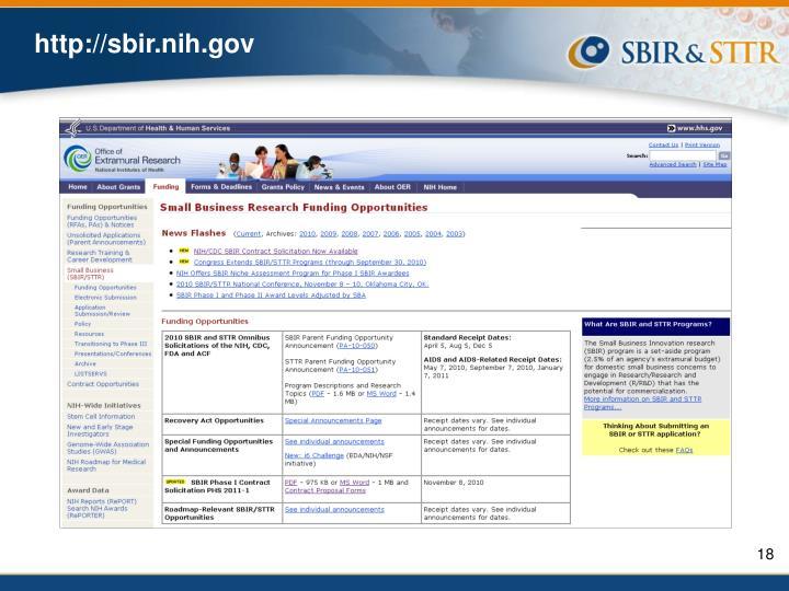 http://sbir.nih.gov