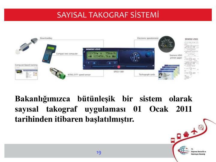 SAYISAL TAKOGRAF SİSTEMİ