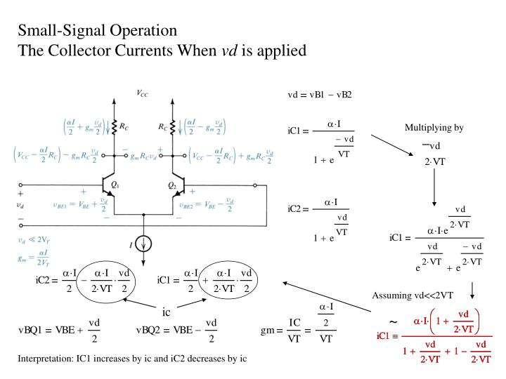 Small-Signal Operation