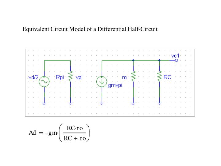 Equivalent Circuit Model of a Differential Half-Circuit