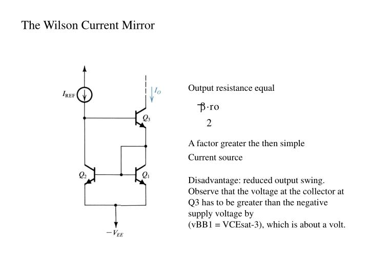The Wilson Current Mirror