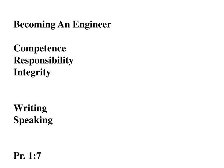 Becoming An Engineer