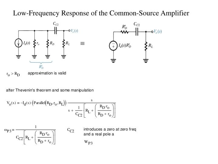 Low-Frequency Response of the Common-Source Amplifier