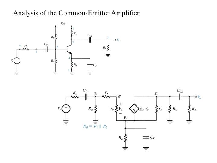 Analysis of the Common-Emitter Amplifier