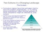 two cultures in a changing landscape the content3