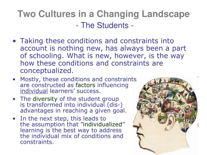 Two Cultures in a Changing Landscape