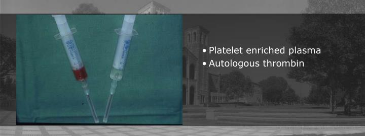Platelet enriched plasma