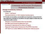 community and economic development department overview5