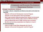community and economic development department overview6