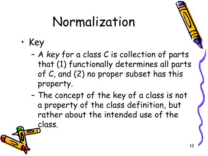 Normalization