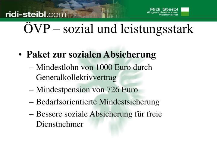 ÖVP – sozial und leistungsstark