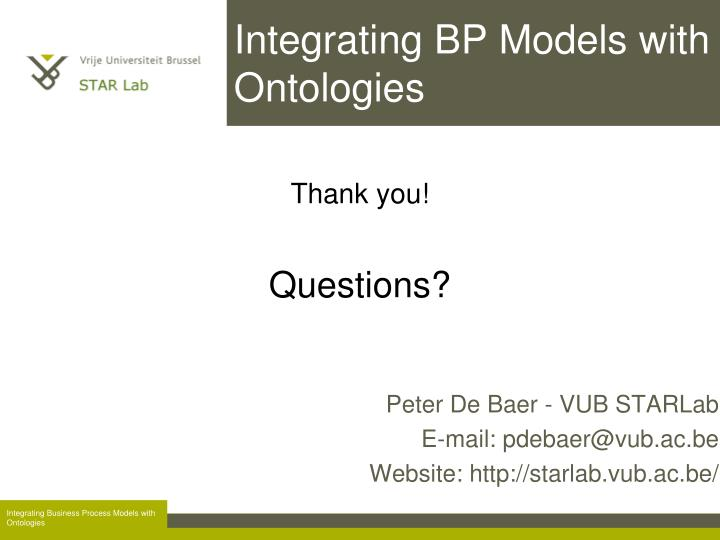Integrating BP Models with Ontologies