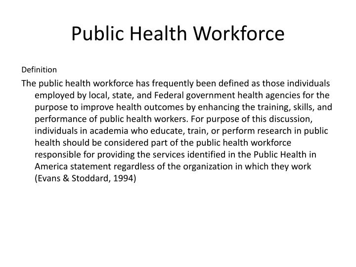 Public Health Workforce