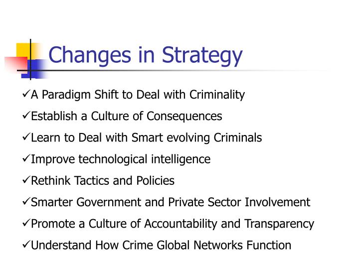 Changes in Strategy