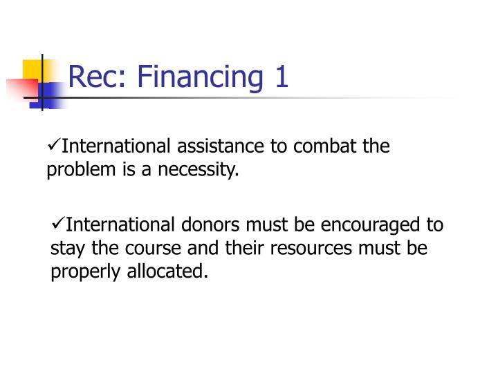 Rec: Financing 1