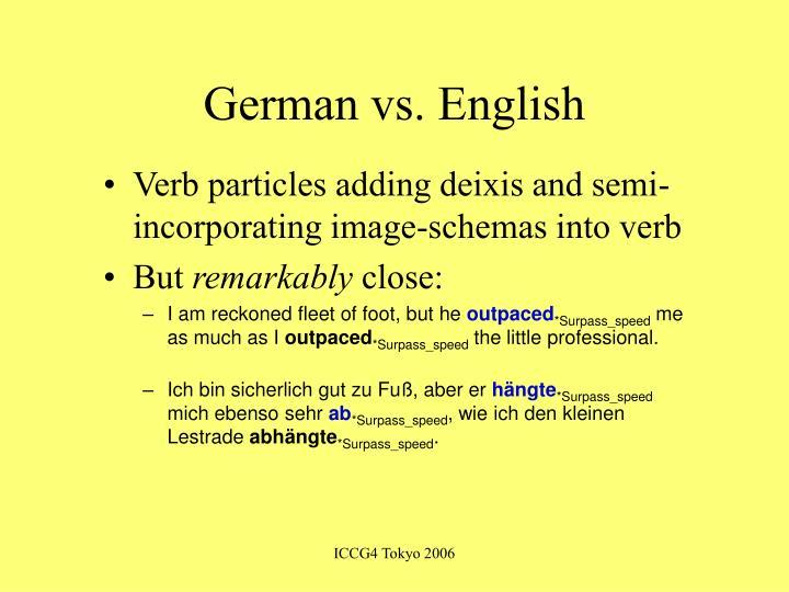 German vs. English