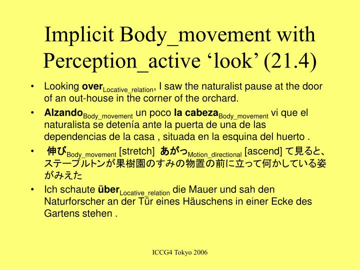 Implicit Body_movement with Perception_active 'look' (21.4)