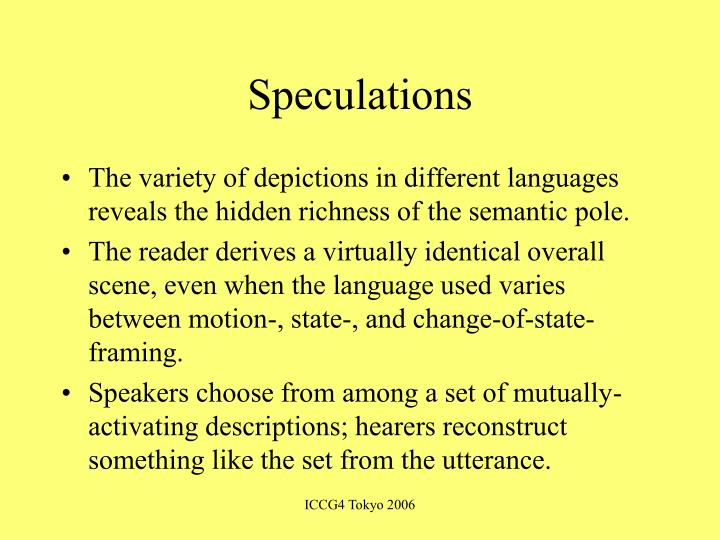 Speculations
