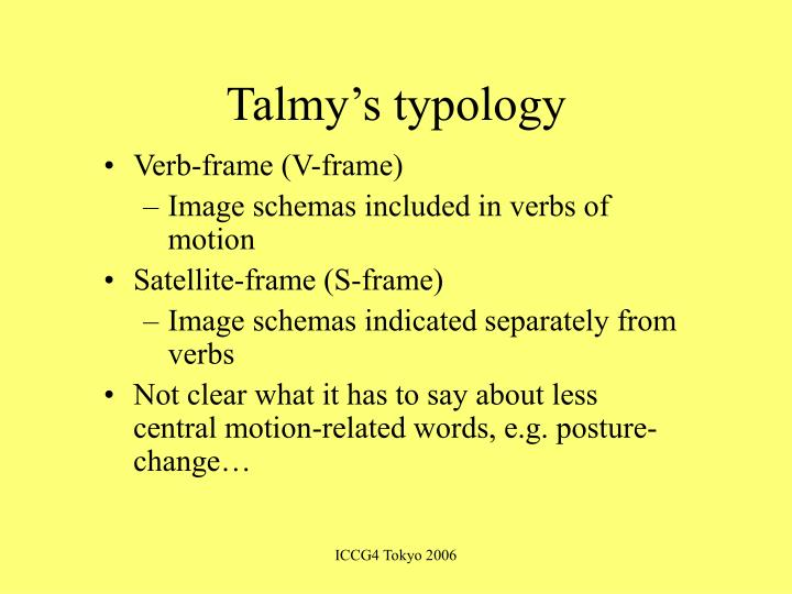 Talmy's typology