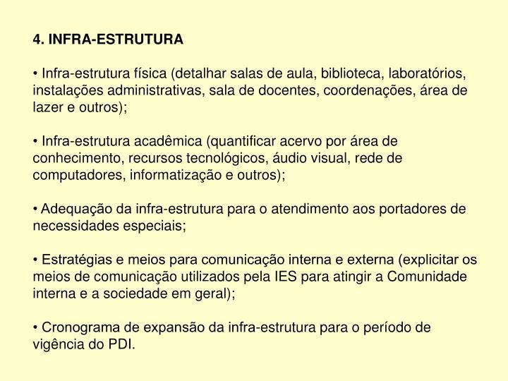 4. INFRA-ESTRUTURA