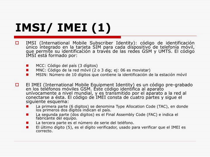 IMSI/ IMEI (1)