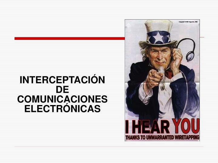 INTERCEPTACIÓN DE