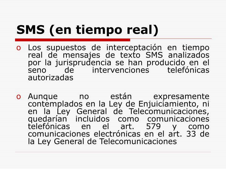 SMS (en tiempo real)